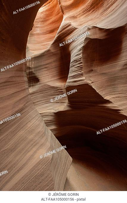 Beautifully swirled sandstone walls in Rattlesnake Canyon, Arizona, USA