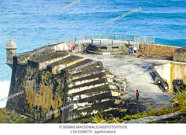 Fort Castillo San Felipe del Morro at San Juan, Puerto Rico s capital and largest city, sits on the island's Atlantic coast