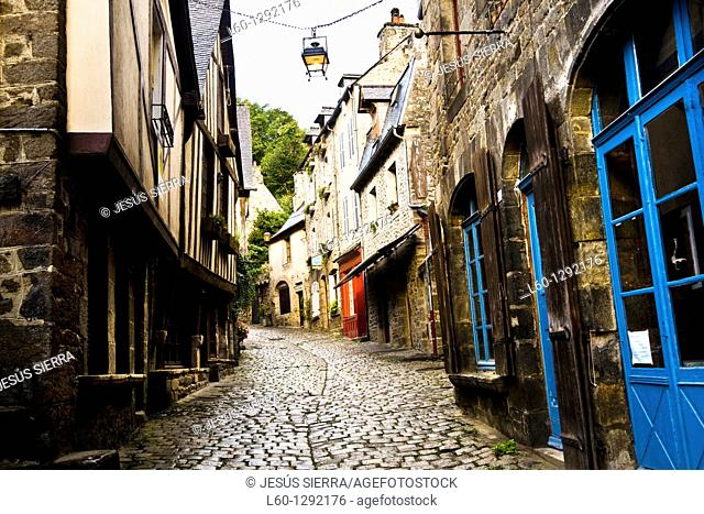 Rue du Jerzual, Dinan  Côtes d'Armor, Bretagne, France