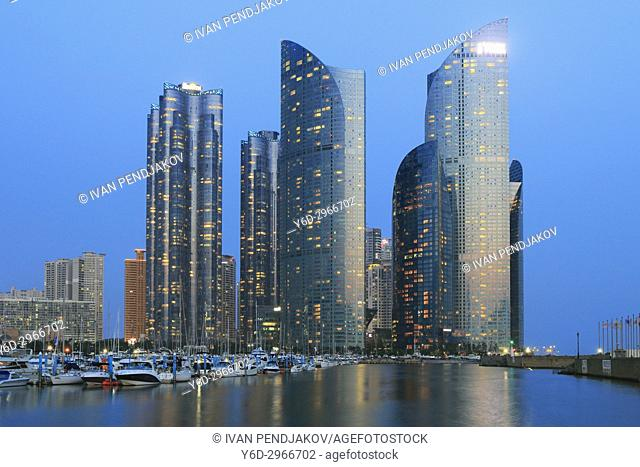 Marine City at Dusk, Busan, South Korea