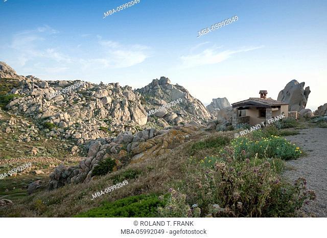 Italy, Sardinia, typical rocky landscape close Santa Teresa di Gallura, Capo Testa