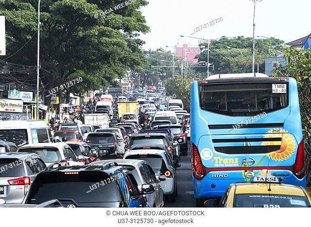 Traffic jam in Jakarta Highway, Indonesia
