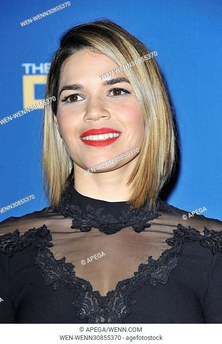 The 69th Annual Director Guild Awards held at the Beverly Hilton - Press Room Featuring: America Ferrera Where: Los Angeles, California