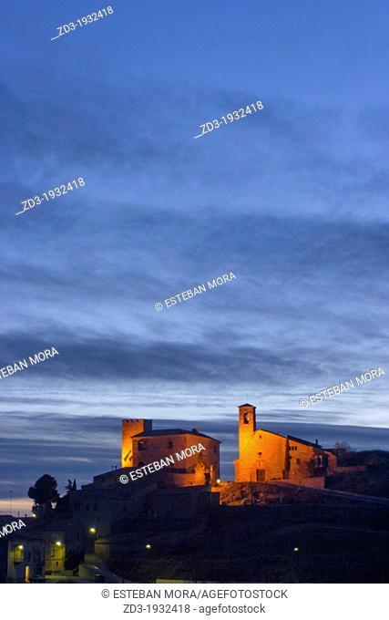 Night view of Cervera, Catalonia, Spain