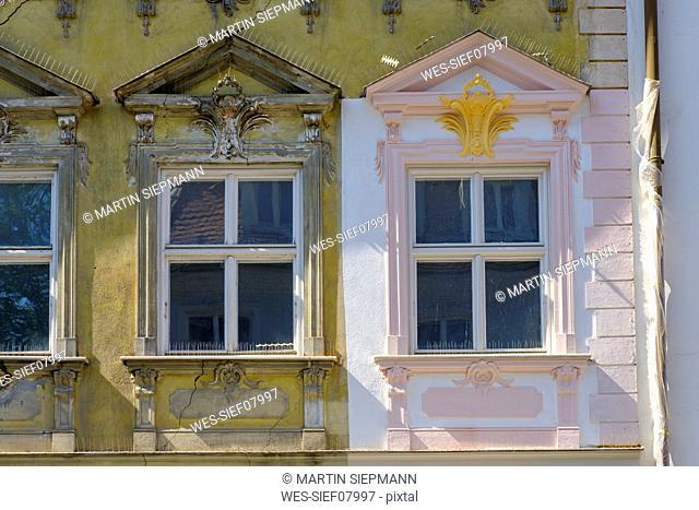 Germany, Augsburg, Lechviertel, Gignoux House, renovated fassade