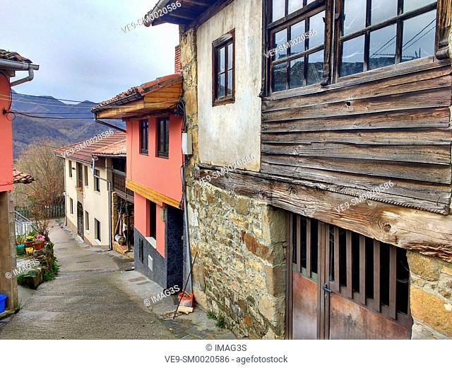 El Tozu village, Caso municipality, Asturias, Spain