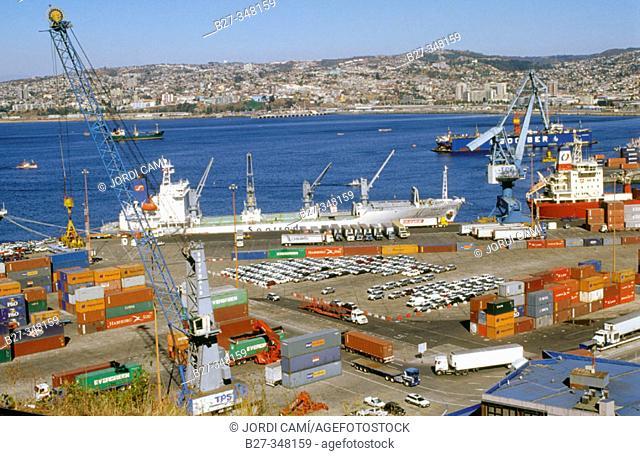 Valparaíso harbour. Chile