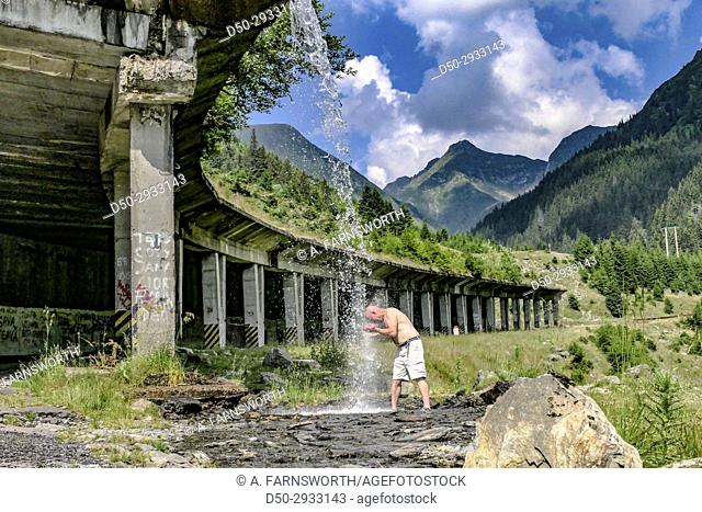 ROMANIA the 500 kilometer Transfagarasan, known as Ceausescu's Folly, North of Bucharest