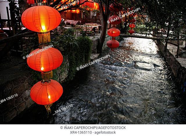 Street environment, Old City of Lijiang, Lijiang, Yunnan, China