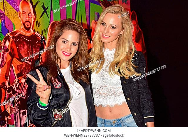 After show party for Suicide Squad Live Event at U3-Tunnel Potsdamer Platz. Featuring: Angelina Heger, Syra Feiser Where: Berlin