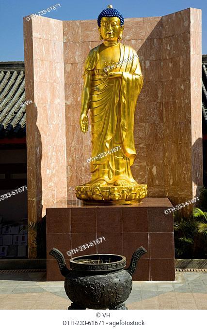 Statues of Buddha at Bo Fook Shan cementery, Shatin, Hong Kong