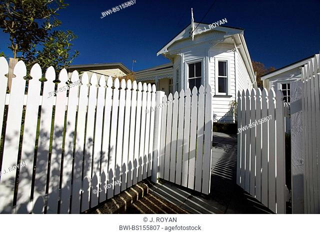 white house with a wooden fence, Northcote Point, New Zealand, Auckland