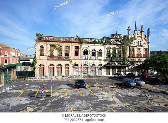 South America , Brazil, Amazonas state, Manaus , old colonial building near the port