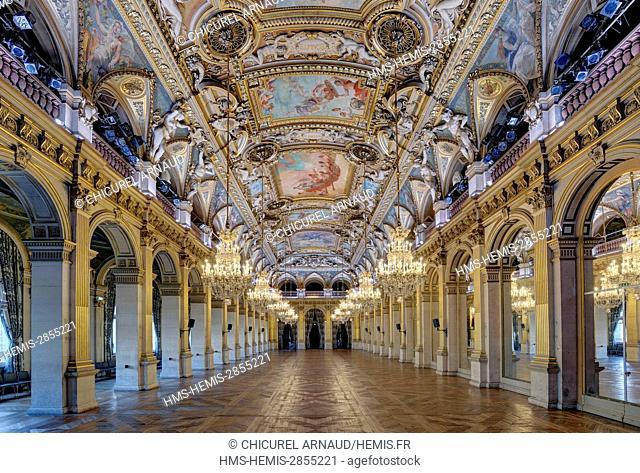 France, Paris, hotel de Ville (City Hall), the reception hall