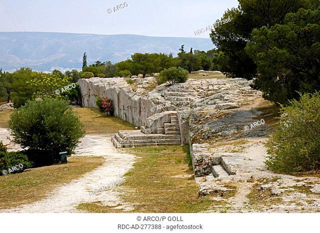 Pnyx hill, near Acropolis, Athens, Greece