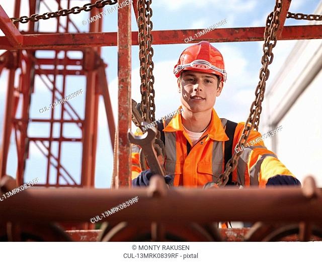 Crane Worker With Spanner