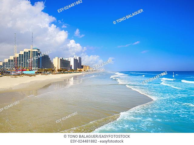 Daytona Beach in Florida coastline of USA