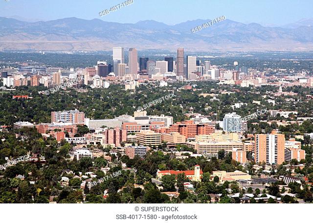 Rose Medical Center and other medical buildings in Denver's Cherry Creek