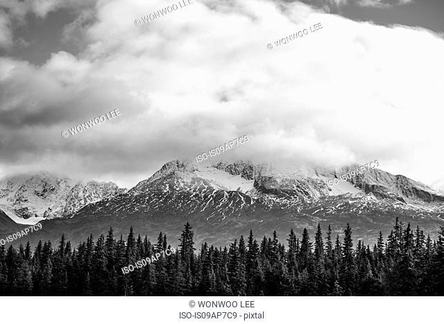 Landscape of Anchorage, Alaska, USA