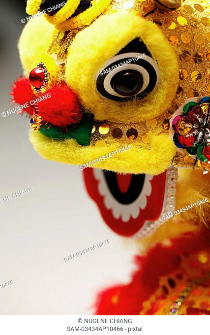 Yellow lion head, Chinese New Year decoration
