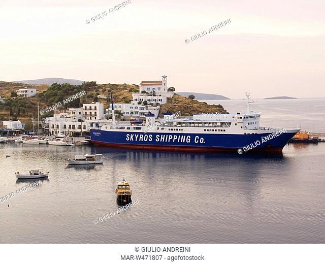 port of Linaria, Skyros, Sporades, Greece