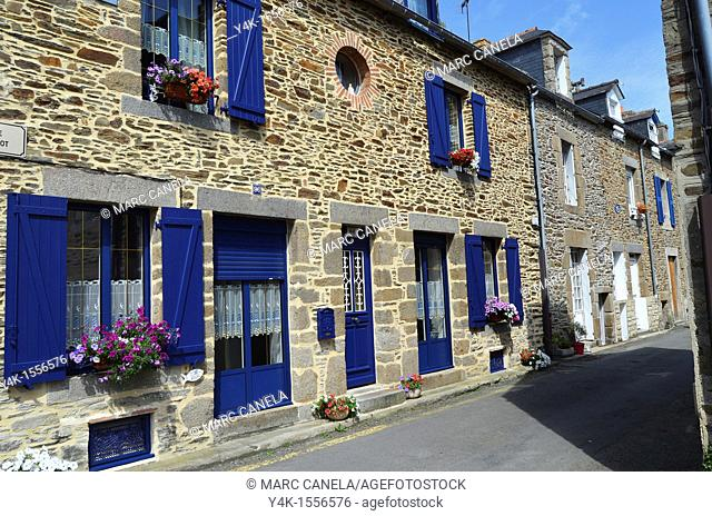 Europe, France,Bretagne Brittany Region, Cancale Village, typical building and street