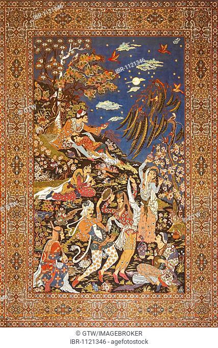 Silk carpet motive, Antalya, Turkey