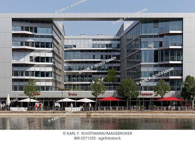 H2 Office, modern office building, Innenhafen, Duisburg, Ruhr district, North Rhine-Westphalia, Germany