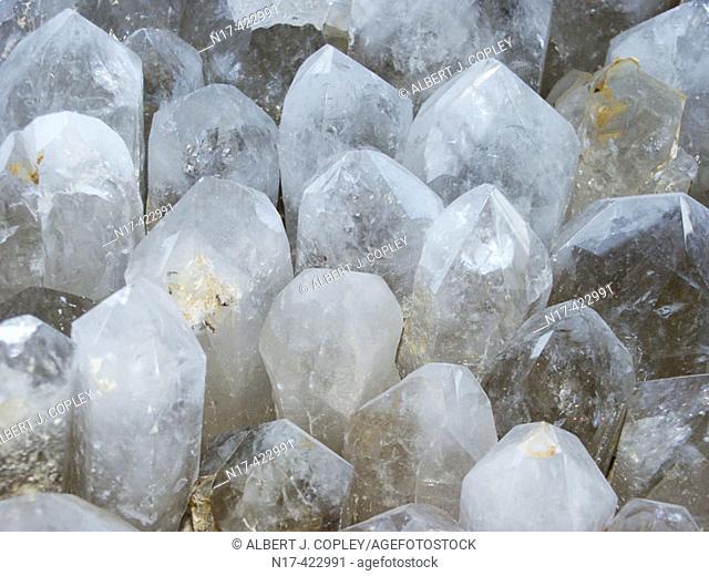 Quartz crystals. Brazil