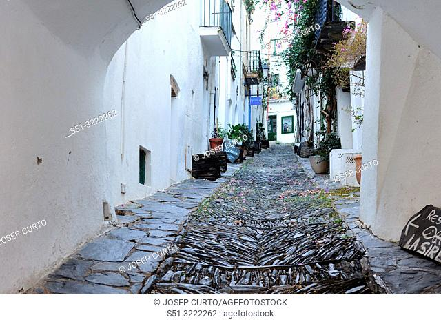 old town of fishing village of , Cadaqués, Girona province, Catalonia, Spain