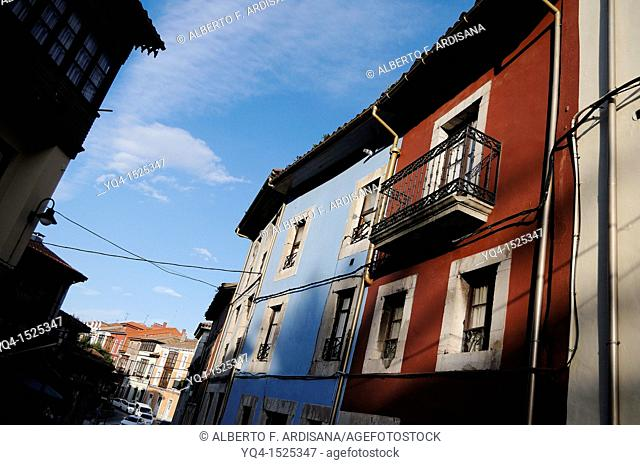 Typical architecture of Llanes, Asturias. Spain