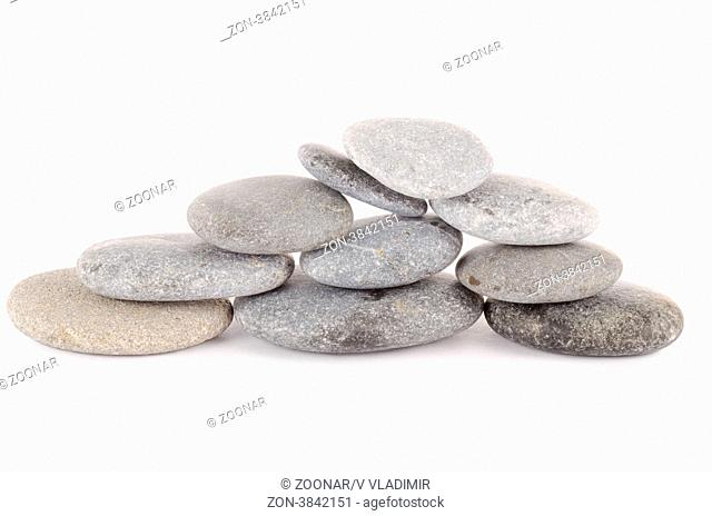 Group of stones isolated on white background