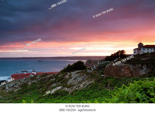 A view over St OuenÔÇÖs Bay near the Corbiere lighthouse