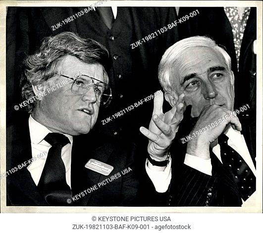 Nov. 03, 1982 - Democratic Candidate for the United States Senate seat in New Jersey is won by Frank R. Aut. Beigh. Mr. Lauteberg