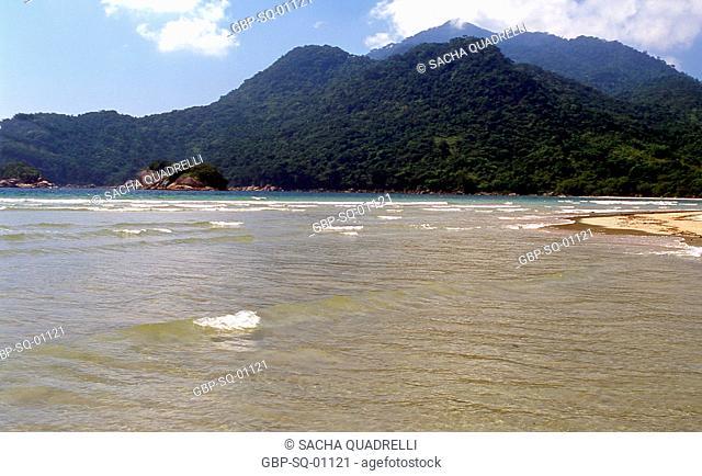 Beach two rivers, Ilha Grande, RJ