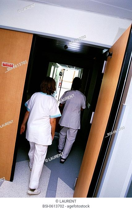 NURSE<BR>Photo essay.<BR>Chatellerault Hospital (Camille Guérin Hospital) in the French department of Vienne