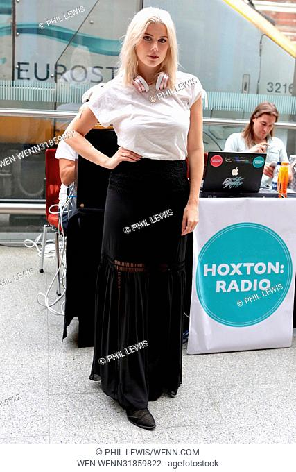 Hoxton Radio live from St Pancras International with Ashley James Featuring: Ashley James Where: London, United Kingdom When: 30 Jun 2017 Credit: Phil...
