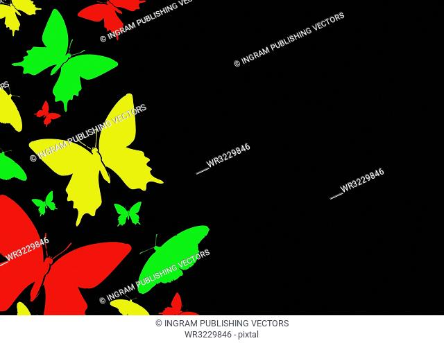 abstract butterfly background with room to add copy