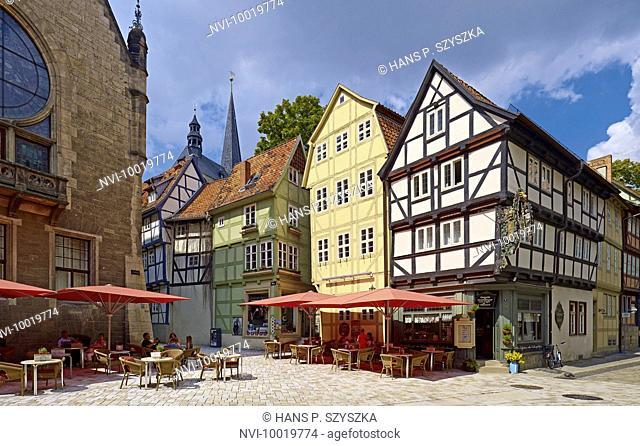 Café at Breite Strasse, Quedlinburg, Saxony-Anhalt, Germany