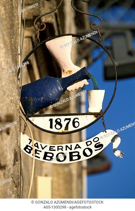 Detail in a tavern  La Ribeira. Porto. Portugal