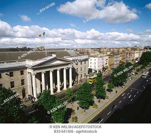 General Post Office building. O'Connell Street. Dublin. Ireland