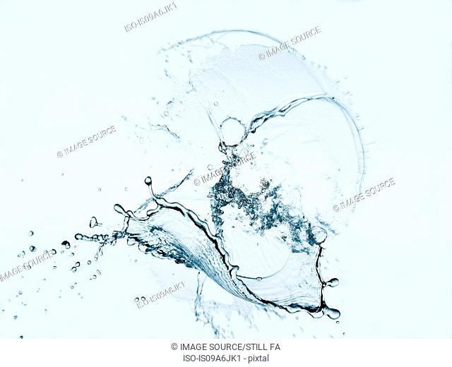 Water splashing in air
