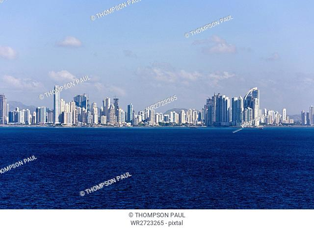 Panama, Panama City, Panama, city, skyline, Republic of Panama, Central America, Pacific, Pacific Ocean, nobody, horizontal, Central America