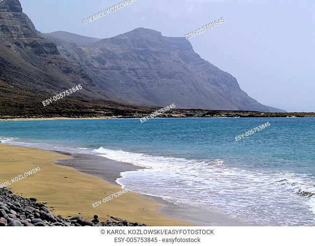 Famara Cliffs - natural landmark of island Lanzarote, Canary Islands, Spain