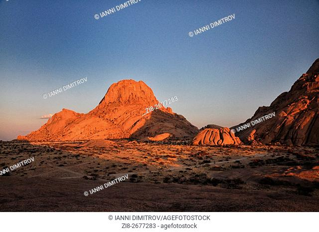 Spitzkoppe-a group of bald granite peaks or bornhardts located between Usakos and Swakopmund in the Namib desert of Namibia