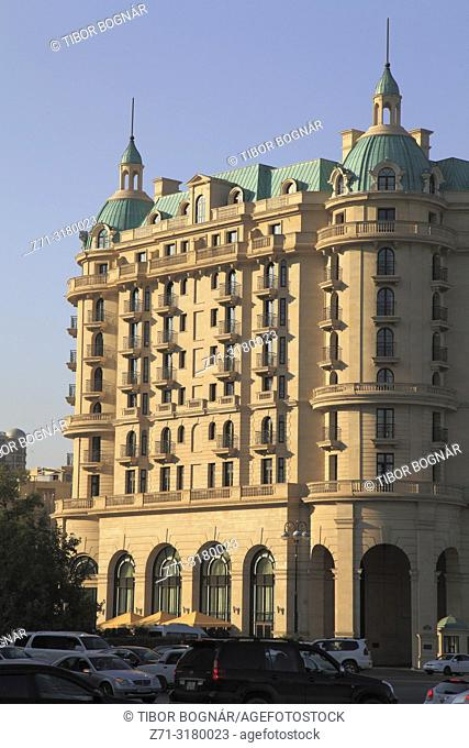 Azerbaijan, Baku, Neftchilar Avenue, apartment building,