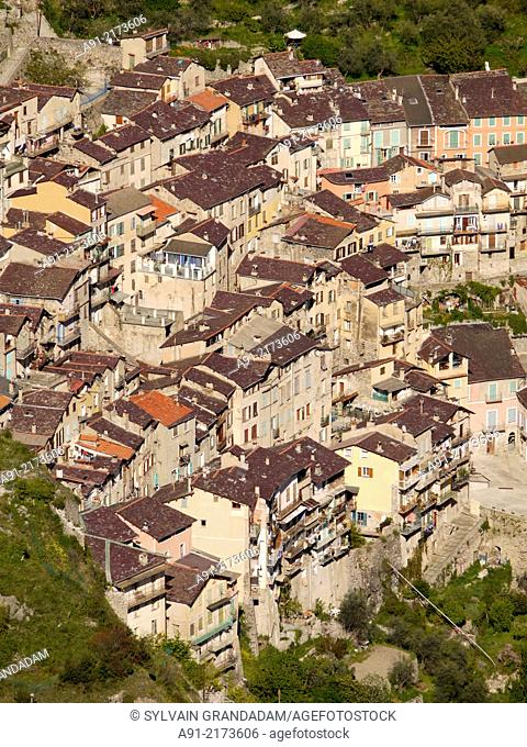 France, Provence, Alpes Maritimes (06), Roya valley, perched village of Saorge