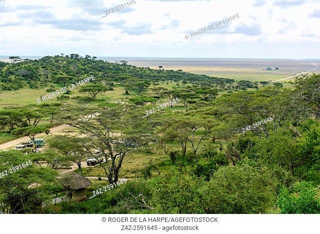 View south towards Ngorongoro Conservation Area (NCA) from Naabi Hill Gate. Serengeti National Park. Tanzania