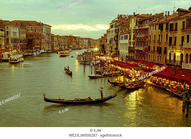 Italy, Venice, Canale Grande at dusk