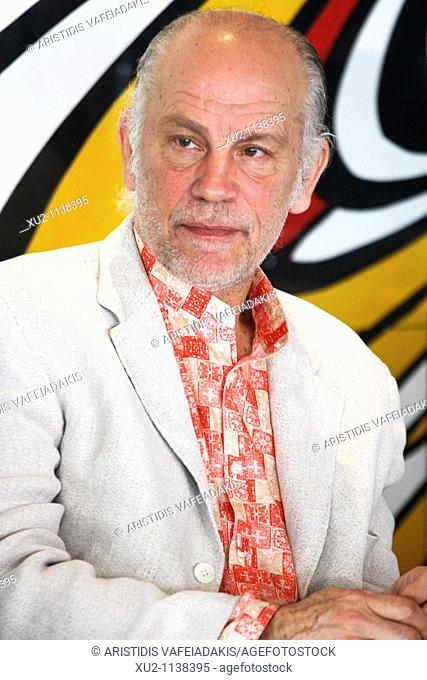 Actor John Malkovich give a press conference about the 'Infernal Comedy' stageplay, Athens, Greece